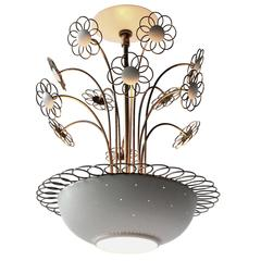 Lightolier Chandelier in the Style of Paavo Tynel, Mid-Century Modern 1950s, USA