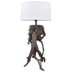 Vintage Driftwood Lamp