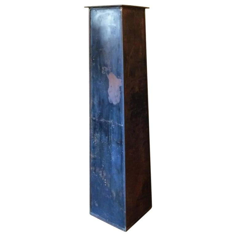 Artisan-Made Industrial Raw Steel Column