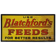 1920 Metal Feed Sign
