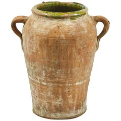 Late 19th Century French Olive Jar in Terra Cotta