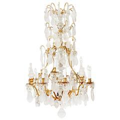 Louis XV Style Rock Crystal Chandelier