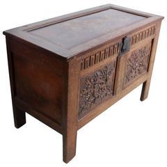 Antique Oak Coffer or Blanket Box, circa 1680