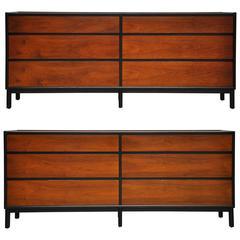 Pair of Dunbar Six-Drawer Dressers by Edward Wormley