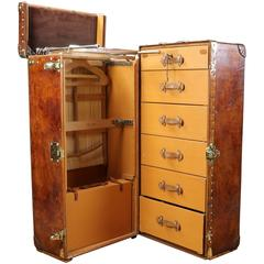 1920s Louis Vuitton Wardrobe Natural Leather Wonderful Patina