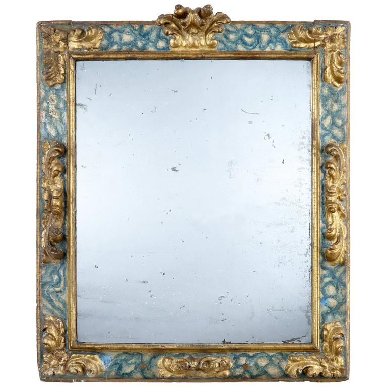 17th century faux marble and giltwood mirror at 1stdibs for 17th century mirrors