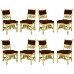 Set of Eight Early Victorian Chairs