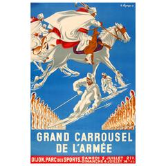 Original Vintage Poster for the Grand Army Carousel/ Grand Carrousel De L'Armee