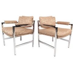 Mid-Century Modern Milo Baughman Style Armchairs