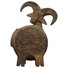 Dominique Pouchain Mouflon Ceramic Sculpture