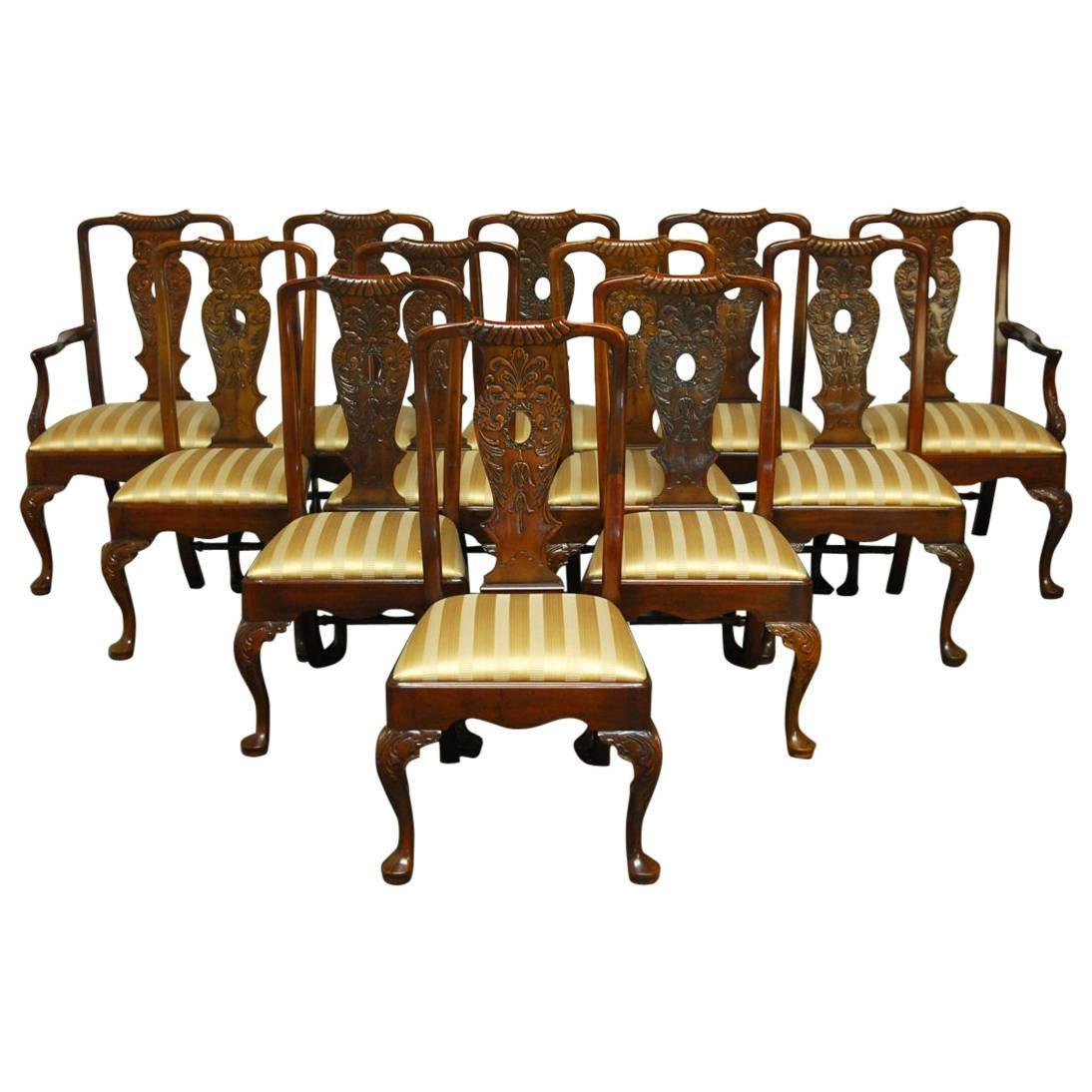 mahogany georgian style dining chairs by henredon for sale at 1stdibs