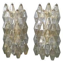 Pair of Polyhedral Venini Wall Lights