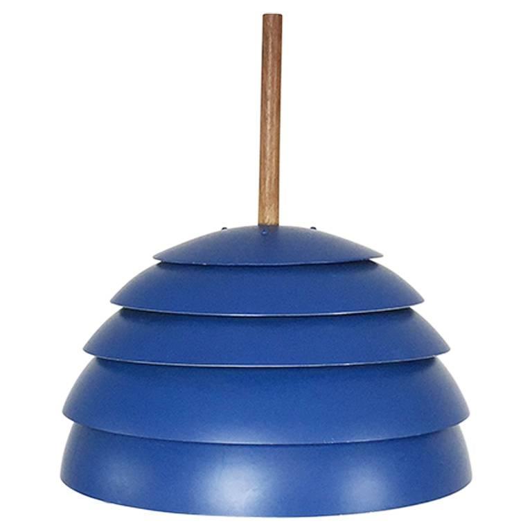 Blue Pendant Light Part - 38: Original 1960s Blue Pendant Light By Hans-Agne Jakobsson, Markaryd Sweden 1