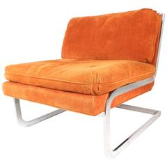 Mid-Century Modern Cantilever Slipper Chair after Milo Baughman