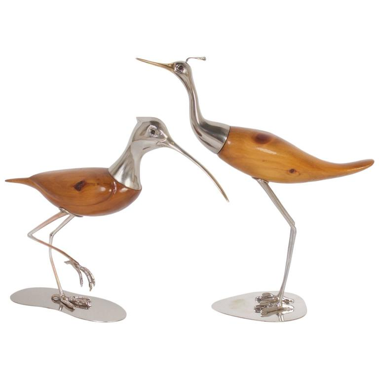 Pair Of Mid Century De Stijl Bird Sculptures 1