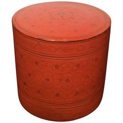 Burmese Red Lacquer Lunch Box