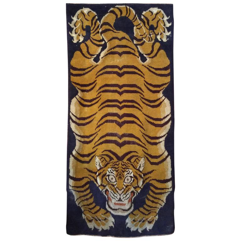 Antique Tibetan Tiger Rug At 1stdibs