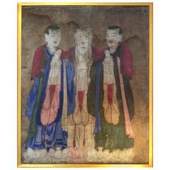 Three Chinese Monks Painting