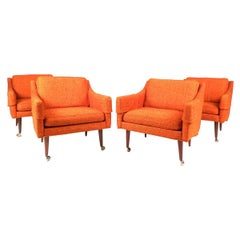 Set of Milo Baughman Lounge Chairs for Thayer Coggin