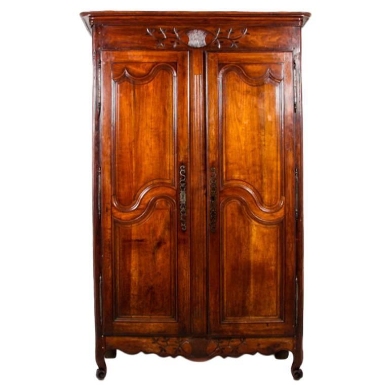 antique french two door cherry armoire for sale at 1stdibs