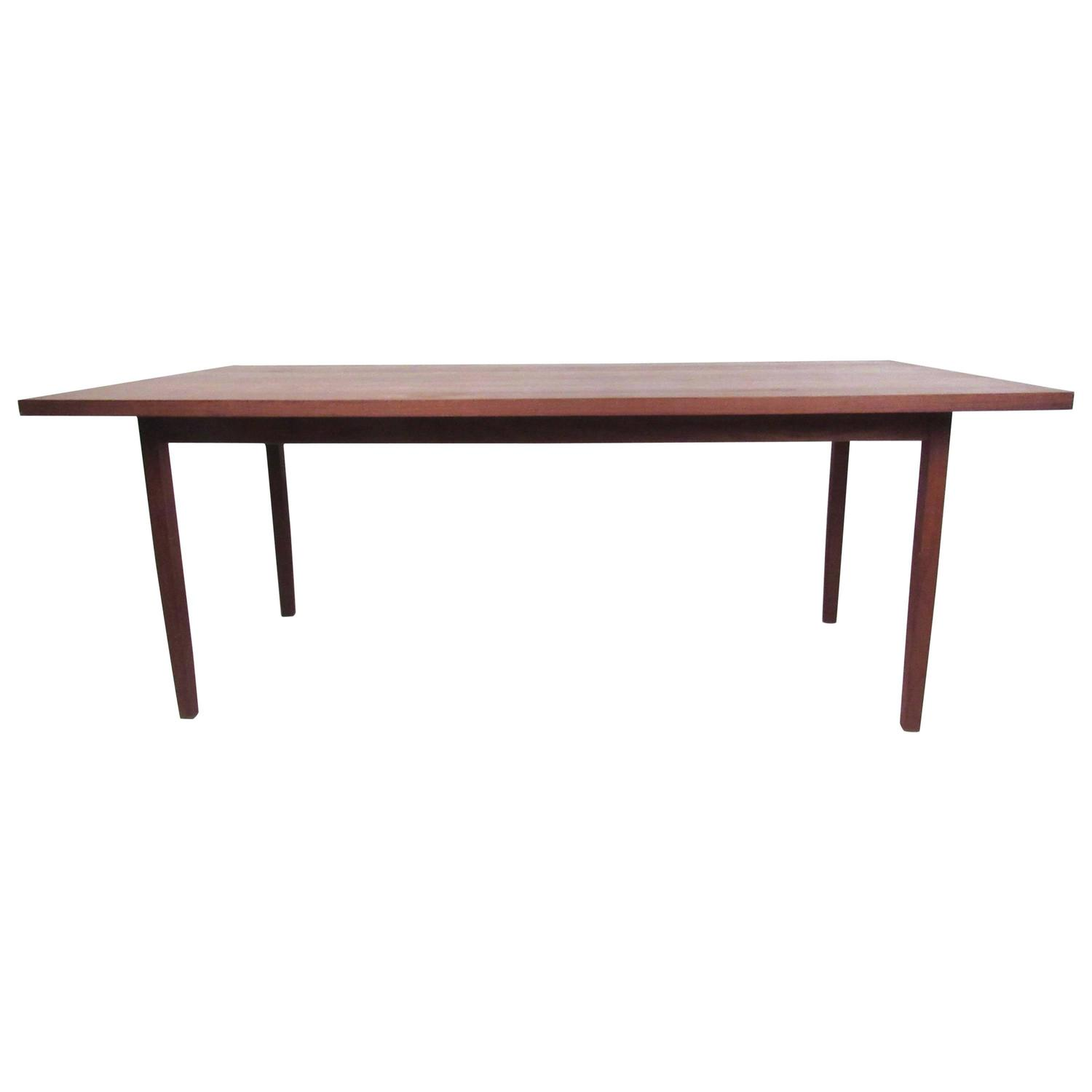 walnut top dining table by knoll international for sale at 1stdibs