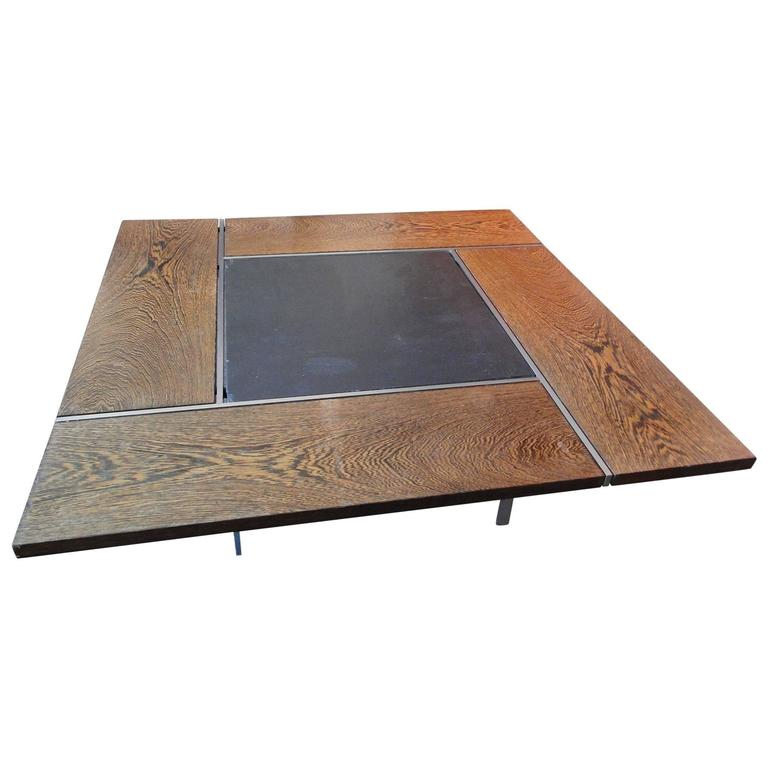 Preben Fabricius J Rgen Kastholm Square Coffee Table With Chromed Steel Frame At 1stdibs