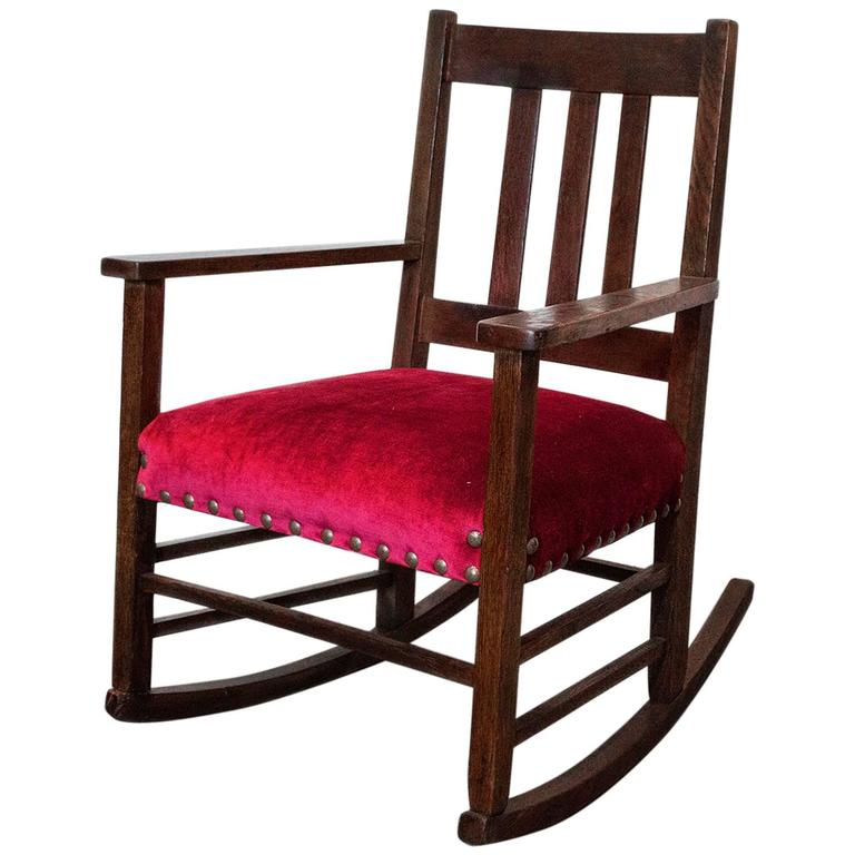 awesome craftsman period rocking chair  circa 1915 for