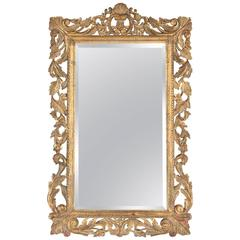French Rococo Style Mirror with Gilt Wood Frame, Early 1900s