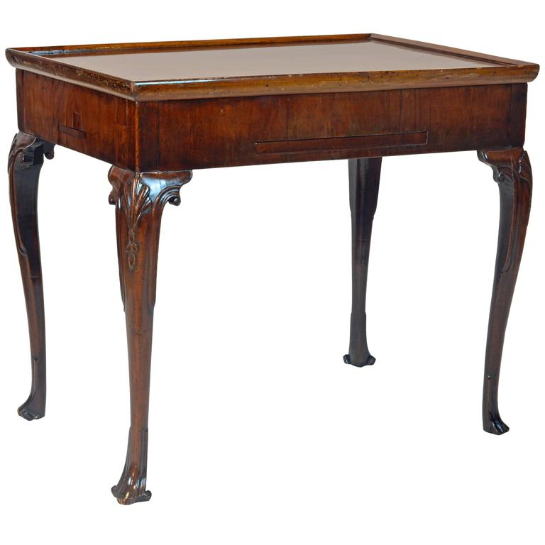 Superior 18th Century George II Mahogany Tric-Trac Game Table