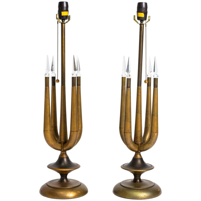 Pair of Tommi Parzinger Style Table Lamps