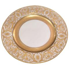Set of 11 Tiffany Heavy Gilt Encrusted Presentation Dinner Plates