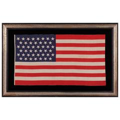 45 Star American Parade Flag with Dancing Stars, Large Scale, Utah Statehood