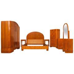 Art Deco Bedroom Suite in Satinwood