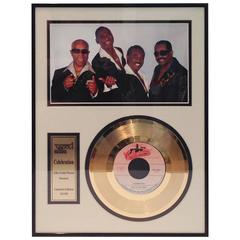"""Kool And The Gang Autographed Photograph & 24-Karat Gold """"Celebration"""" Record"""