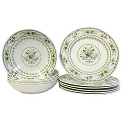 "Mid-Century Royal Doulton, England ""Provencal"" Dinnerware S/11"