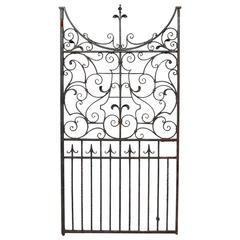 Large Mid-19th Century Wrought Iron Pedestrian Gate