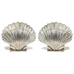 Fantastic Pair of French Silvered Shell Wall Lights