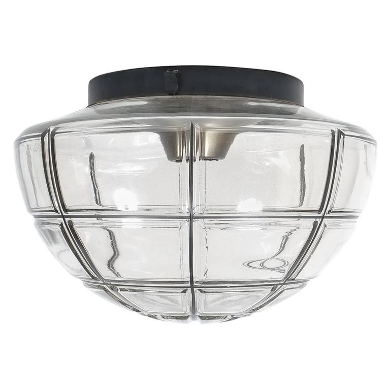 Limburg Flush Mounts Ceiling Lamp Clear Glass One Out Of Five 1970