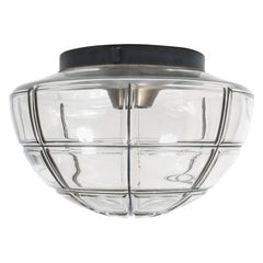 Limburg flush mounts Ceiling lamp Clear Glass one out of four, 1970