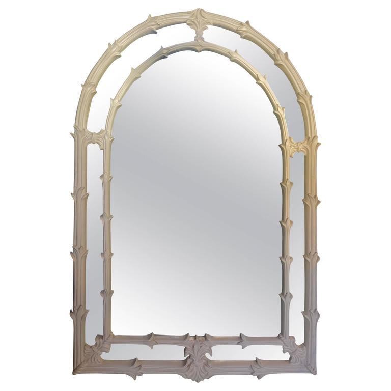 Serge Roche Style Palm Foliate Mirror