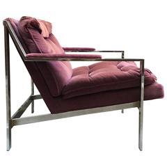 Cy Mann Tufted Chrome Armchair