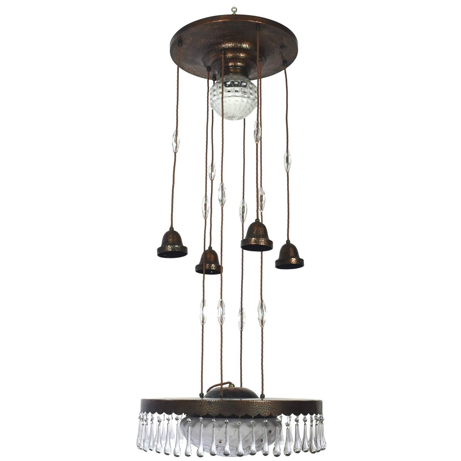 shades polished retro chrome light glass products of globe chandelier