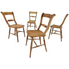 Victoria Regina Era Rustic English Original Farm Chairs