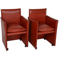 Pair of Mario Bellini Lounge Chairs for Cassina, Italy, Labeled