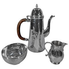 Traditional Georgian Sterling Silver Coffee Service by James Robinson