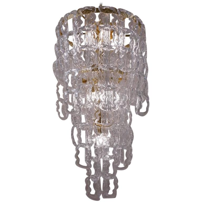 Angelo mangiarotti style chandelier murano glass chain link gilt angelo mangiarotti style chandelier murano glass chain link gilt frame italian for sale mozeypictures Gallery