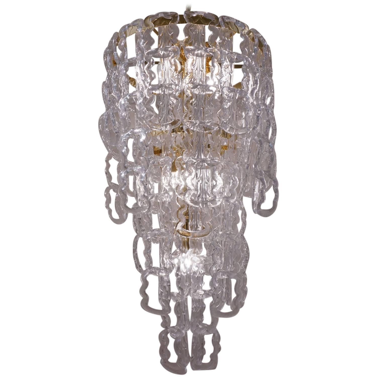 Murano Glass Chandelier For Sale at 1stdibs