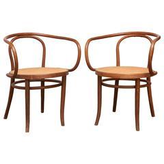 Pair of Thonet 209 Armchairs, circa 1900