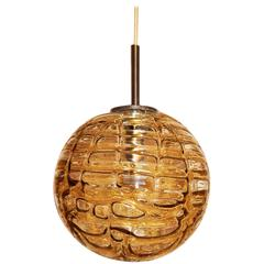 Large Doria Amber Globe Pendant