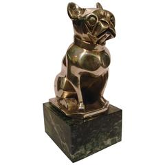 Art Deco French Bulldog Bookend or Paperweight, France, 1925